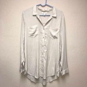 [Cloth & Stone] Beige Button Down Tunic Top